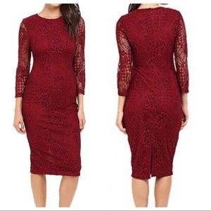 Jessica Simpson Red Lace Dress